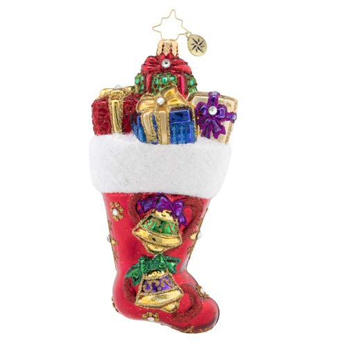 Christopher Radko Hand-Crafted European Glass Christmas Decorative Figural Ornament, A Stocking You Can Hear!