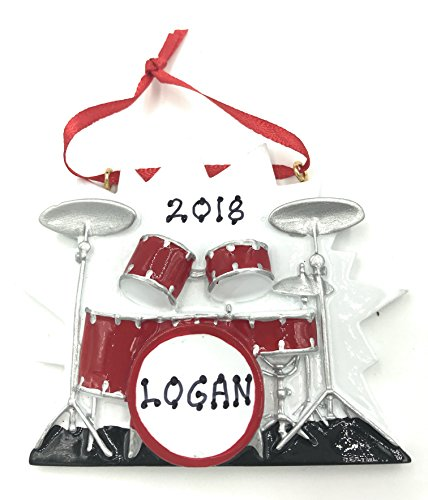 Personalized Drum Set Christmas Ornament 2019 Free Personalization