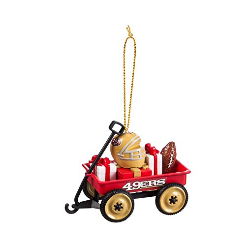 Team Sports America San Francisco 49ers NFL Team Wagon Ornament, Set of 4