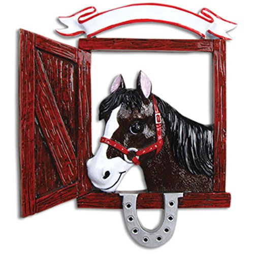 Personalized Love My Horse Christmas Tree Ornament 2019 – Beautiful Black Equidae Wood Barrel Ranches Farm Shoe First Lesson Teacher Race Sports Activity Gift Year – Free Customization