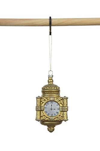 Creative Co-op Gold Glass Clock Ornament