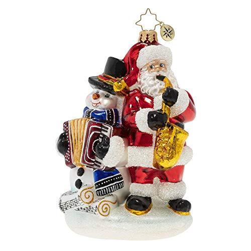 Christopher Radko Hand-Crafted European Glass Christmas Ornament, Seasonal Serenade