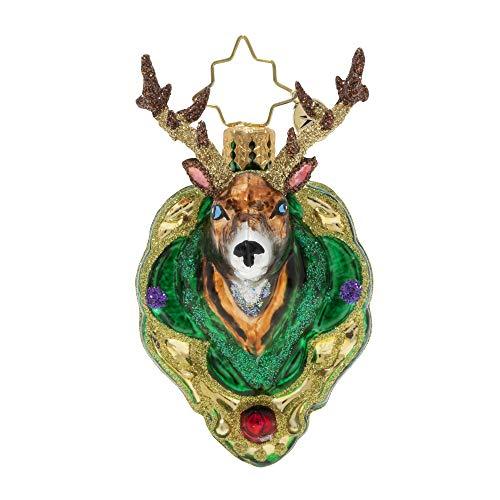 Christopher Radko Hand-Crafted European Glass Christmas Ornament, A Buck for Christmas Gem
