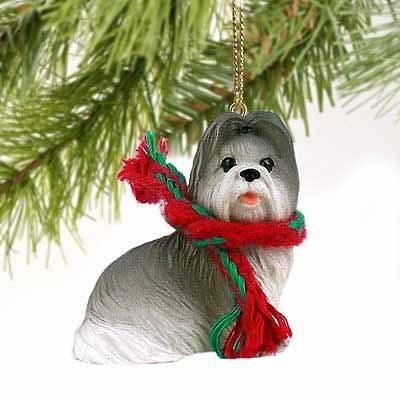 Conversation Concepts Shih Tzu Miniature Dog Ornament – Gray & White