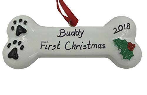 Personalized First Christmas Dog Christmas Ornament 2019