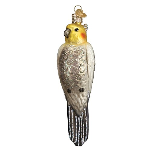 Old World Christmas Glass Blown Ornament Cockatiel (16109)