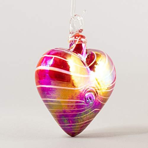 Glass Eye Studio 2020 Cupid Red Heart Ornament