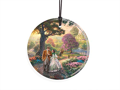 Trend Setters Gone with The Wind – Scarlett Ohara and Rett Butler – Thomas Kinkade – Starfire Prints Hanging Glass – Ideal for Gifting and Collecting