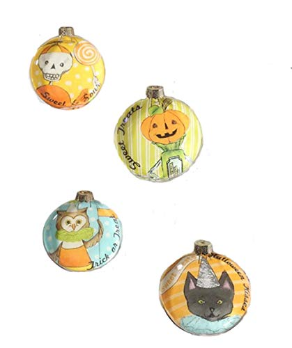 Bethany Lowe Sweet Treats Glass Disc Hanging Ornaments (Set/4)