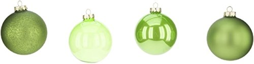 Mark Roberts Boxed Set of Four Christmas Ball Ornaments Buyer (Green)