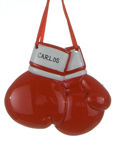 Personalized Sports Boxing Gloves Christmas Holiday Gift Expertly Handwritten Ornament