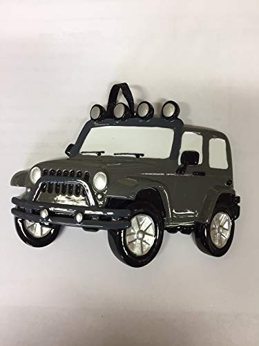 Polar X Jeep 4X4- Grey Personalized Christmas Tree Ornament