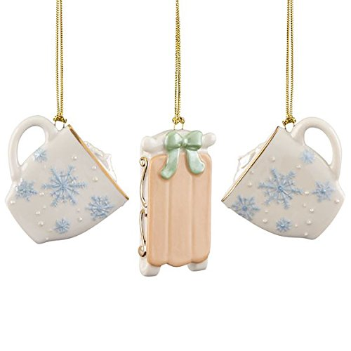 Lenox ~ Winter Fun 3 Piece Ornament Set