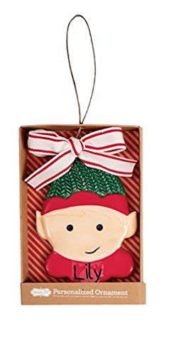 Mud Pie Christmas Personalized Ornament (Elf)
