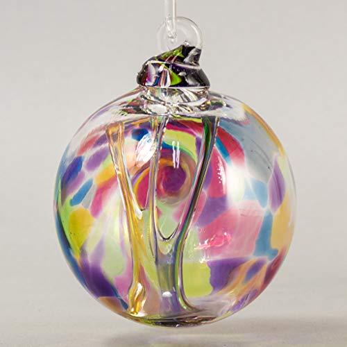 Glass Eye Studio Rainbow Angel Swing Spirit Ball Ornament