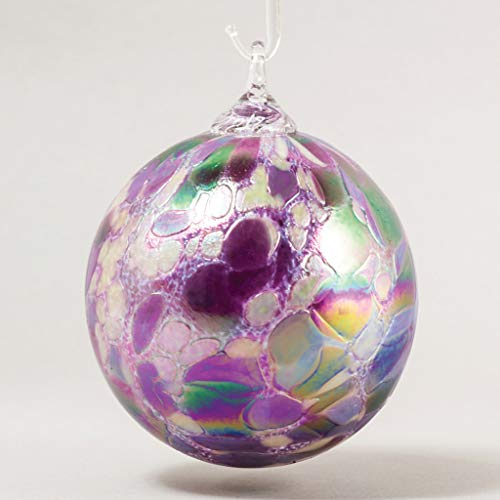 Glass Eye Studio Classic Ball Ornament Purple Pansy