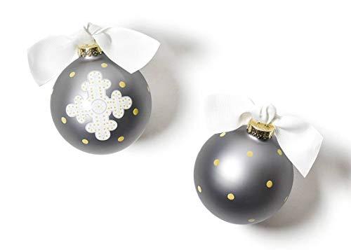 Coton Colors 100 MM Neutral Cross Glass Ornament