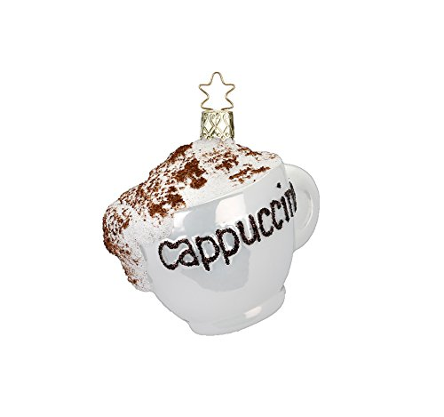 Inge-glas Cuppa Cappuccino Cup 10196S018 German Glass Christmas Ornament