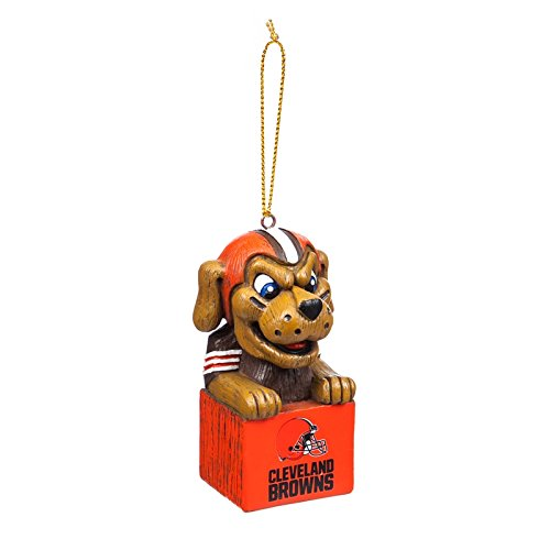 Team Sports America Cleveland Browns NFL Tiki Totem Mascot Ornament, Set of 2