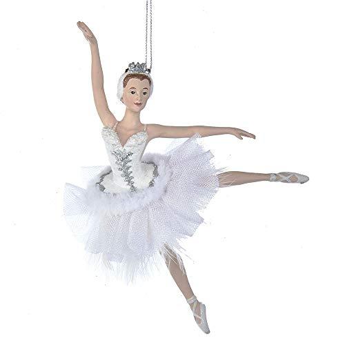 Kurt Adler 6.75-inch Resin Swan Lake Ballerina Ornament