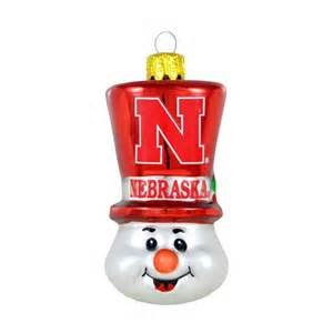Nebraska Cornhuskers Top hat Snowman Ornament