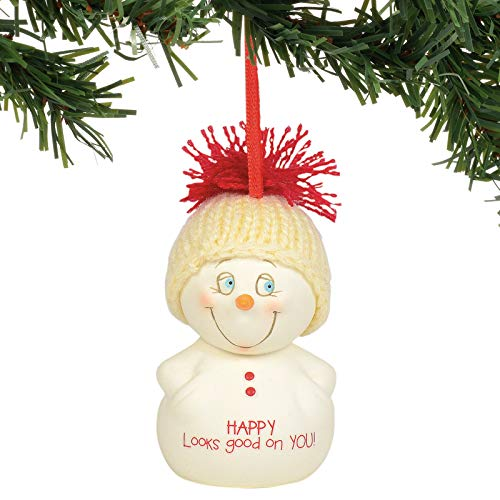 Department 56 Snowpinions Happy Looks Good on You Hanging Ornament, 2.75 Inch, Multicolor