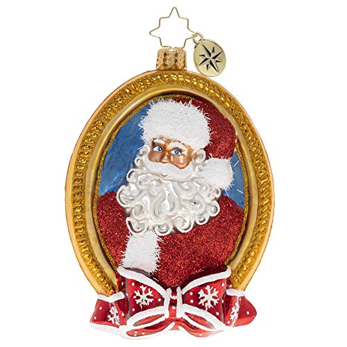 Christopher Radko Hand-Crafted European Glass Christmas Ornament, A Prized Portrait