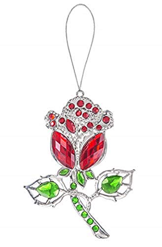 Ganz Red Rose Ornament