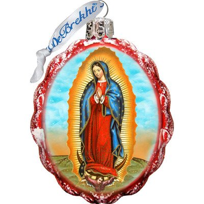 G. Debrekht Lady of Guadalupe Glass Ornament