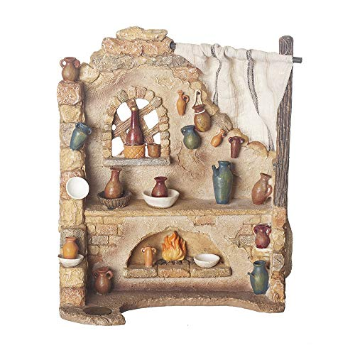 Fontanini, Nativity Building, Pottery Shop, 7.5″ Scale, Collection, Handmade in Italy, Designed and Manufactured in Tuscany, Polymer, Hand Painted, Italian, Detailed