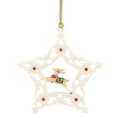 Lenox Reindeer Snowflake Ornament