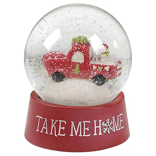 Blossom Bucket Take Me Home Snow Globe with Truck