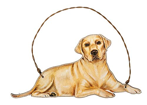 Primitives by Kathy Yellow Lab Hanging Ornament