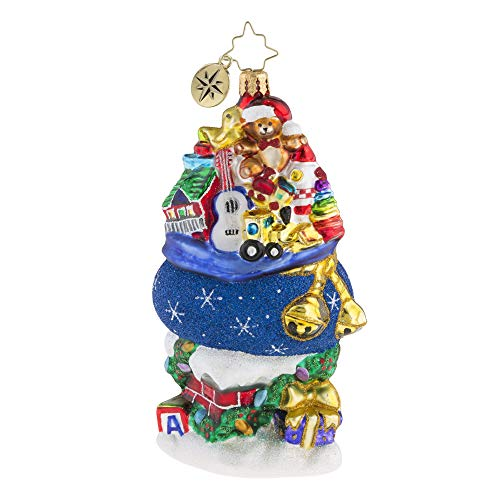 Christopher Radko Hand-Crafted European Glass Christmas Decorative Figural Ornament, Too Much Stuff!