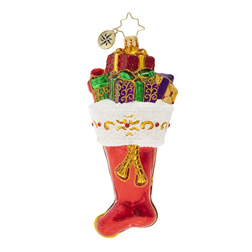 Christopher Radko Hand-Crafted European Glass Christmas Ornament, Bursting at The Seams!