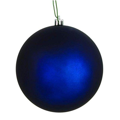 Vickerman 569627-2.4″ Midnight Blue Matte Ball Christmas Tree Ornament (24 pack) (N590631DMV)