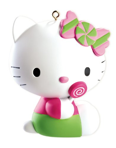 Hello Kitty With Lollipop 2012 Carlton Heirloom Ornament