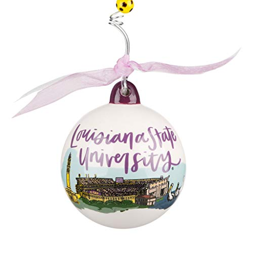 Glory Haus LSU Tigers Landmark Ball Ornament