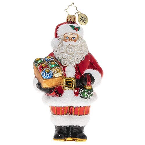 Christopher Radko Hand-Crafted European Glass Christmas Ornament, Ready to Deck The Halls
