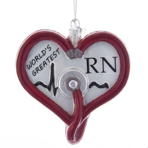 Kurt Adler Noble Gems Nurse Glass Ornament