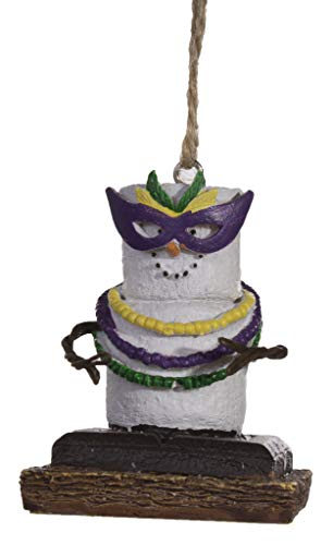 Midwest S'Mores Mardi Gras Christmas/Everyday Ornament