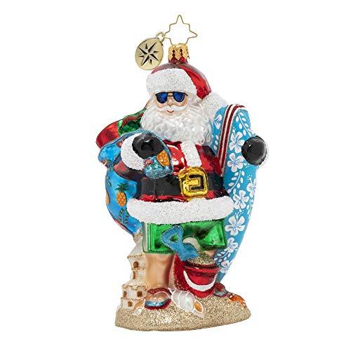 Christopher Radko Hand-Crafted European Glass Christmas Ornament, Shredding The Gnar