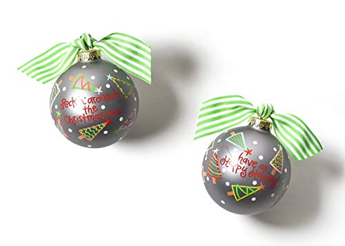 Coton Colors 100 MM Rockin' Around The Christmas Tree Glass Ornament