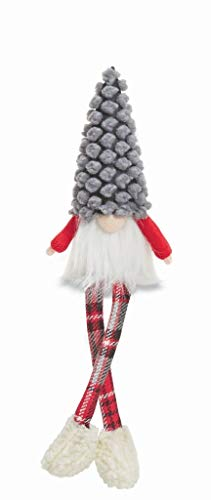 Mud Pie Xmas Dangle Leg Gnomes (Grey Dot)