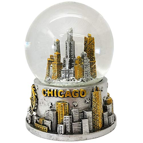 meaningful gifts The City of Chicago Skyline Souvenir Snow Globe Novelty Home Decor Showpiece