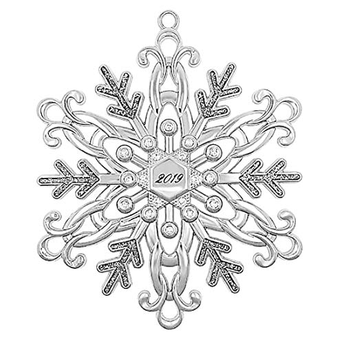 Harvey Lewis 2019 Silver Snowflake Ornament Adorned with Crystals from Swarovski