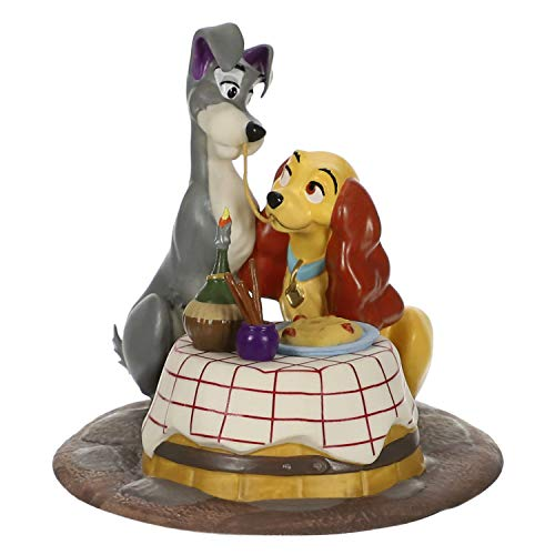 Hallmark Keepsake Christmas Ornament 2019 Year Dated Disney Lady and The Tramp A Beautiful Night, Porcelain