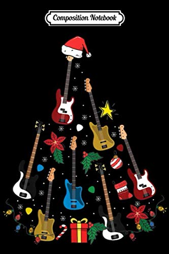 Composition Notebook: Bass Guitar Christmas Ornament Tree Funny Guitar Player Xmas  Journal/Notebook Blank Lined Ruled 6×9 100 Pages