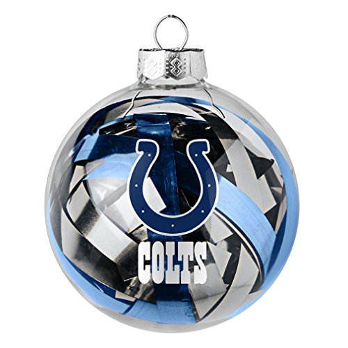 NFL Indianapolis Colts Large Tinsel Ball Ornament