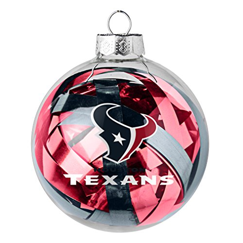 NFL Houston Texans Large Tinsel Ball Ornament